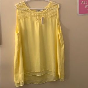 Ricki's XXL yellow tank top NWT